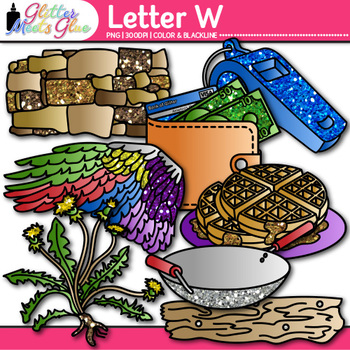Letter W Alphabet Clip Art {Teach Phonics, Recognition, an