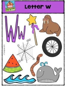 Letter W - Alphabet Pictures {P4 Clips Trioriginals Digita