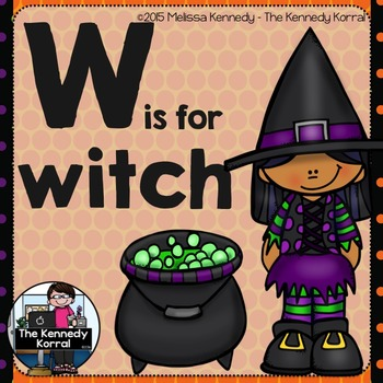 Letter W is for Witch {Halloween}