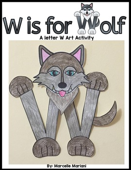 Letter of the week- Letter W art activity Template- W is f