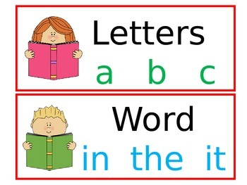 Letter, Word, Sentence Sort