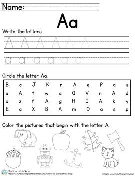 Letter Worksheet: A