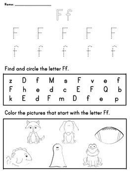 Letter Worksheet: F