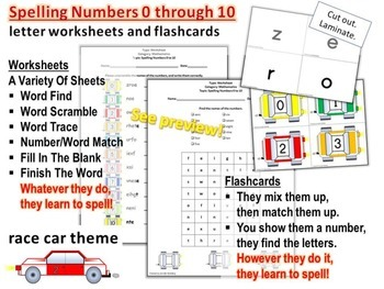 SPELLING: Letter Worksheets and Flashcards - Spelling Numb