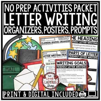 Letter Writing Unit - 1st Grade, 2nd Grade & 3rd Grade