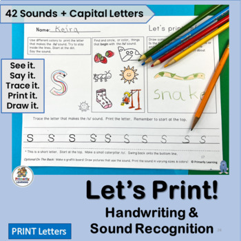 98 pages of Handwriting Practice and Sound Recognition pri