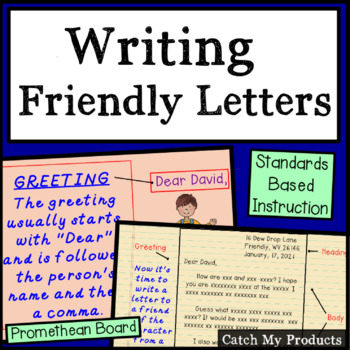 Letter Writing Lesson to Accompany a Reading Passage - Pro