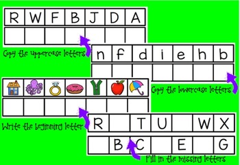 Letter Writing Practice Cards