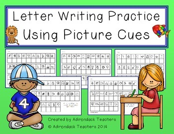 Letter Writing Practice Using Picture Cues