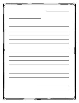 Letter Writing Template with Border