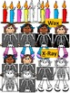 Letter X- Clipart Graphics- Commercial & Personal Use (End