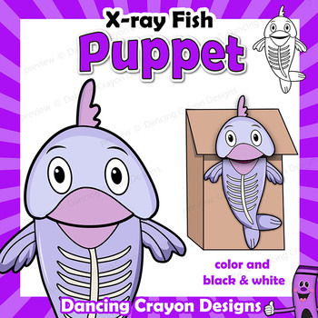 Letter X Craft - Paper Bag Puppet X-ray Fish