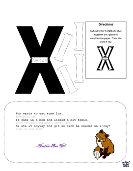 Letter X Cutout Craft