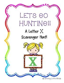 Letter X Scavenger Hunt