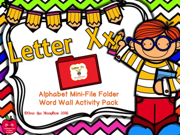 Letter Xx Mini-File Folder Word Wall Activity Pack