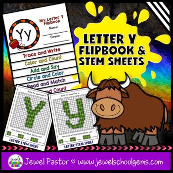 Letter Y Alphabet Interactive Notebook Activities Flipbook
