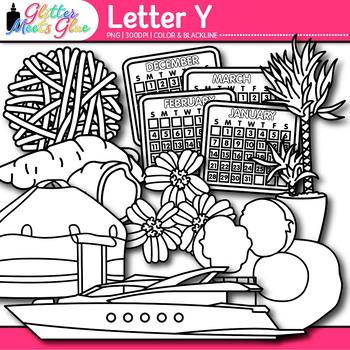 Letter Y Alphabet Clip Art {Teach Phonics, Recognition, an