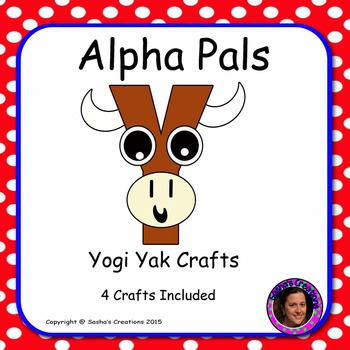 Letter Y Alphabet Craft: Yogi Yak Alpha Pal