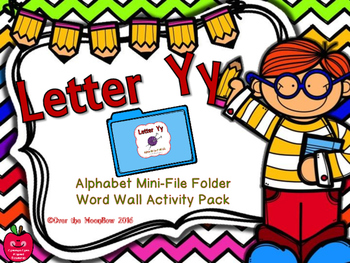 Letter Yy Mini-File Folder Word Wall Activity Pack