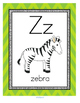 Letter Z Recognition, Sound, Tracing and Craftivities