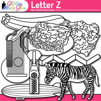 Letter Z Alphabet Clip Art {Teach Phonics, Recognition, an