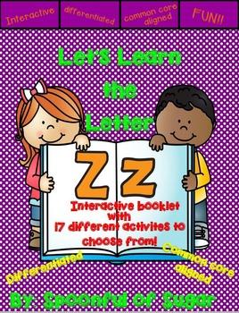 Letter Zz- Ineractive Activity Booklet