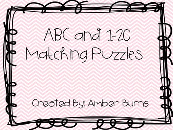 Letter and 1-20 Matching Game