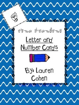 Letter and Number Cards in Sign Language (with and without print)