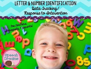 Letter Number Identification {Autism Progress Monitoring I