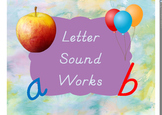 Letter and Picture Matching Set- Print, Cursive, and D'Nealian