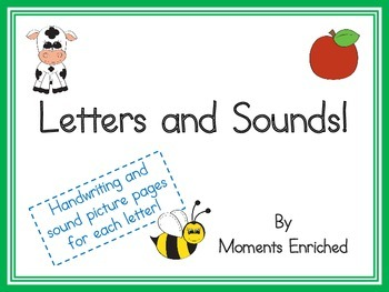 Letter and Sound Handwriting Pages