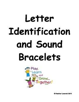 Letter and Sound Identification Bracelets