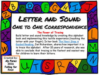 Letter and Sound One to One Correspondence