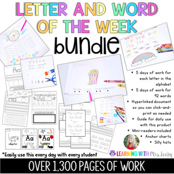 Letter and Word of the Week BUNDLE - Letter and Word Work