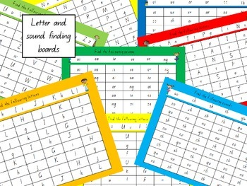 Letter and sound finding boards