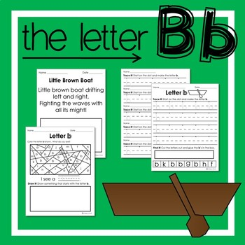 Letter b: Recognizing Letters and Handwriting Practice