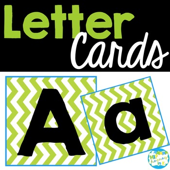 Letter cards for centers