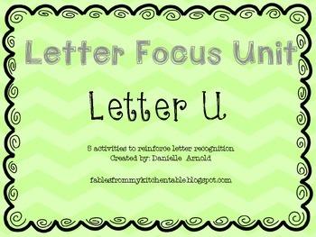 Letter focus: Letter U