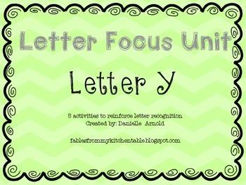 Letter focus: Letter Y