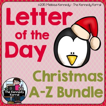 Christmas Letter of the Day: A to Z BUNDLE