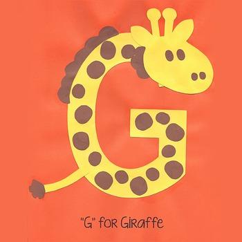 Alphabet Art Craftivity, Upper G (Giraffe)