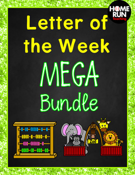 Alphabet A-Z Letter of the Week MEGA Bundle, Phonics packet, RTI