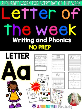 Letter of the Week - LETTER Aa - Writing, phonics, and let
