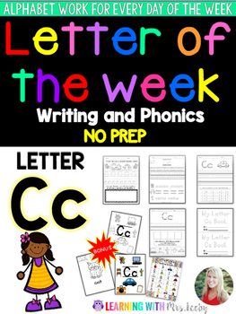 Letter of the Week - LETTER Cc - Writing, phonics, and let