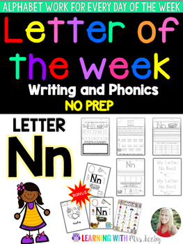 Letter of the Week - LETTER Nn - Writing, phonics, and let