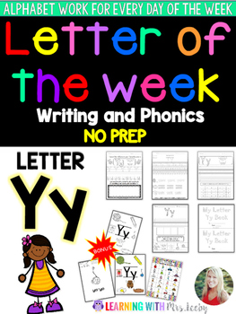 Letter of the Week - LETTER Yy - Writing, phonics, and let