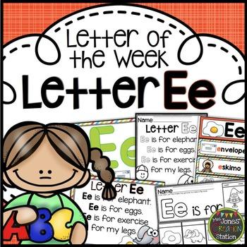 Letter of the Week {Letter Ee}