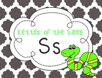 Letter of the Week: Letter S