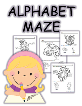 Letter of the Week Maze(A-Z) No Prep Worksheets
