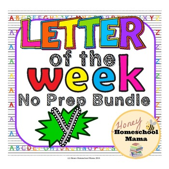 Letter of the Week - No Prep Print and Go Bundle for the L